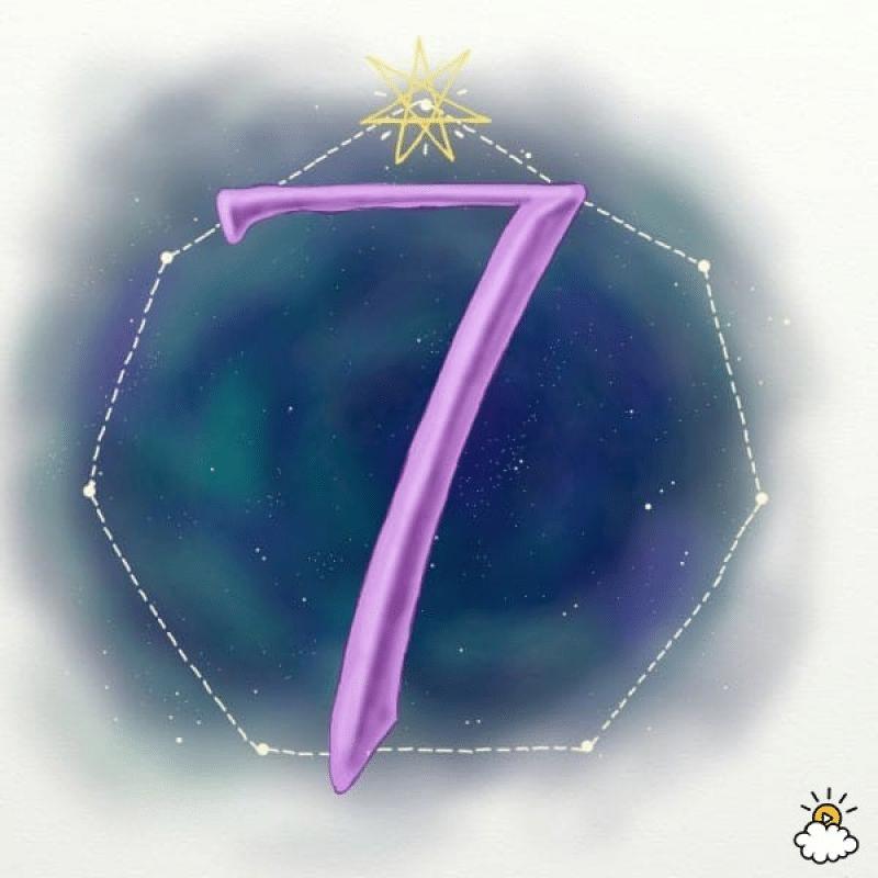 Số 7 trong biểu đồ ngày sinh