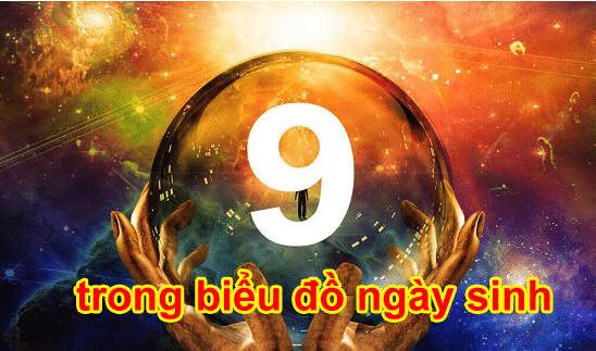 Ý nghĩa số 9 trong biểu đồ ngày sinh